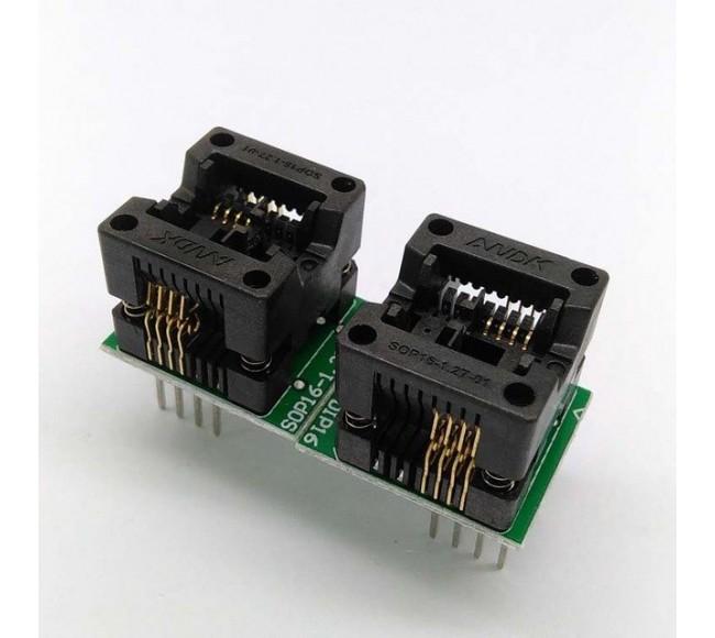 OTS-16-3  Bios Programmer Adapter SOP8-DIP8 Socket (150mil)