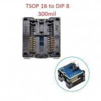 SOIC SOP16 TO DIP8 Programmer Adapter 300mil Bios Socket