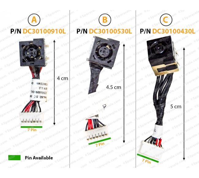 Dc Jack For DELL Latitude E4200, E4300, E4310 Series, 0U374D, U374D, E4200, E4300, JAZ00, J90M8, 0J90M8, JAL10, G72VP, 0G72VP, DC30100530L, DC301004A0L, DC30100430L, DC30100910L, DC30100AF0L