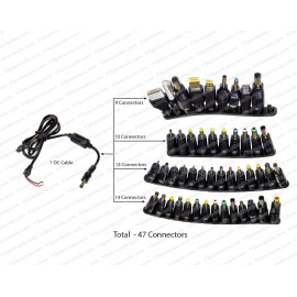 47 in 1 DC Power Jack, Universal Plug Adapter Connector