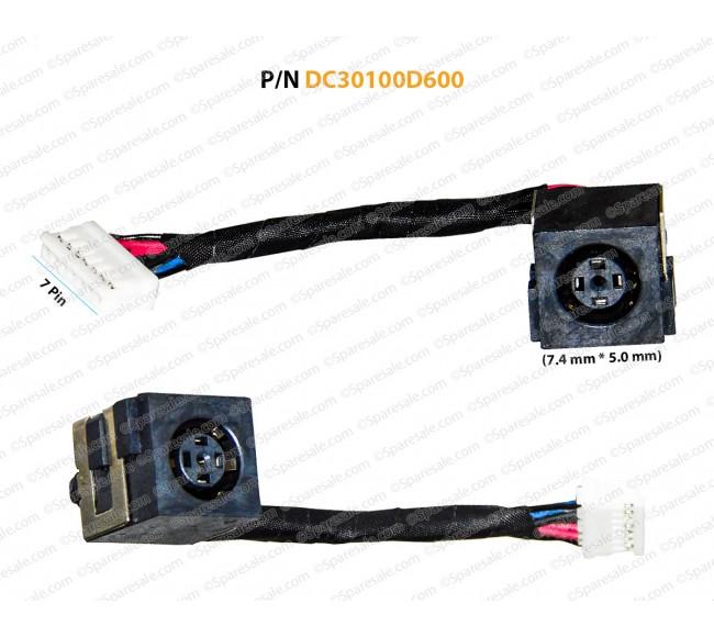 DC JACK FOR Dell Latitude E6320, E6329, G9PG3 DC30100D600 CN-0G9PG3-G5AD3