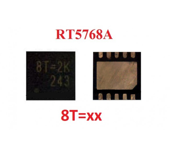 RT5768AGQW 8T=3H, 8T=2L, 8T=2D, 8T=2J, 8T=2G, 8T=
